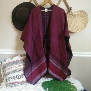 Woolrich poncho shawl blanket wrap